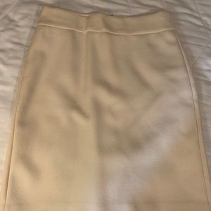 J. Crew Skirts - J Crew Winter White Wool Pencil Skirt 0p